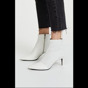 Rag and bone white patent leather beha booties NWT